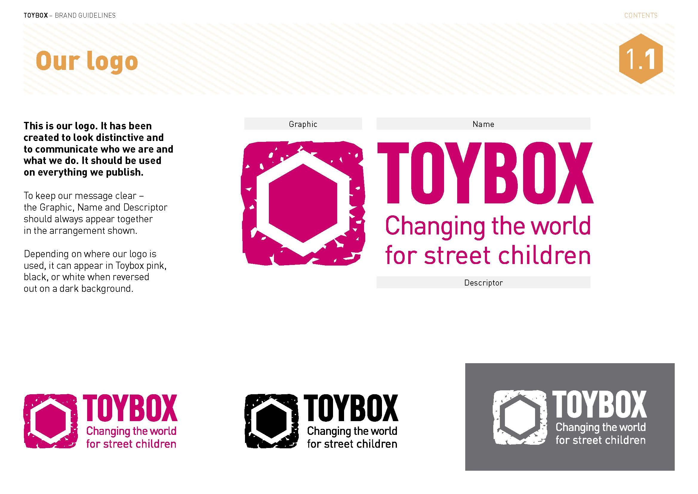 Toybox brand guidelines - our logo