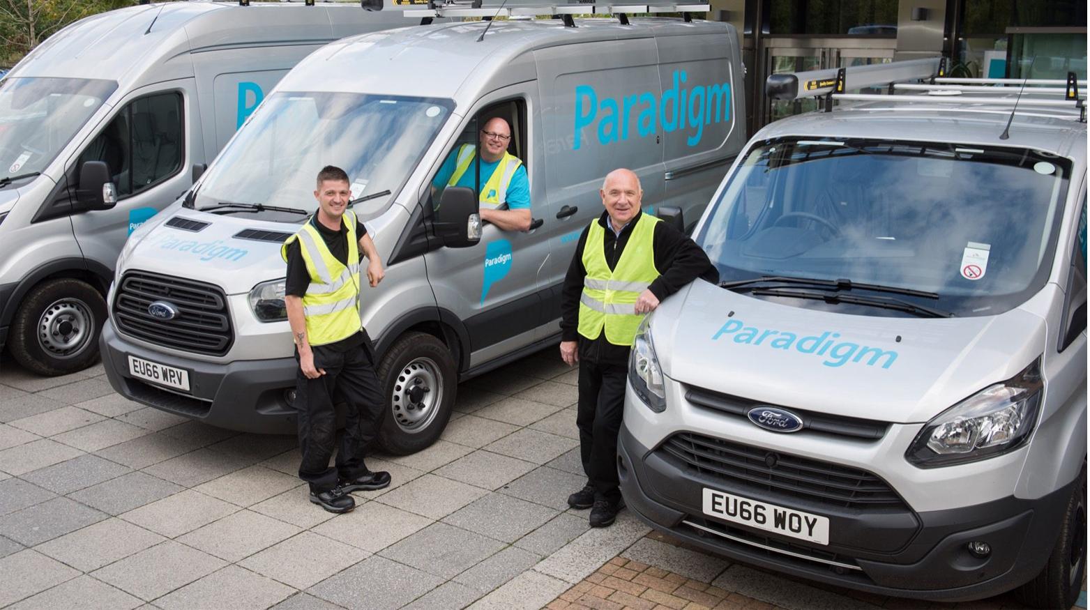 Paradigm vans featuring livery design