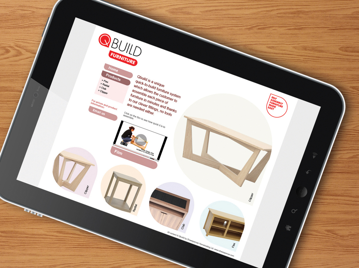 QBuild website on ipad