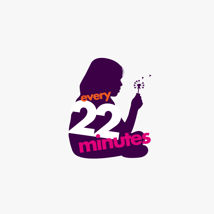 Every 22 minutes campaign logo design