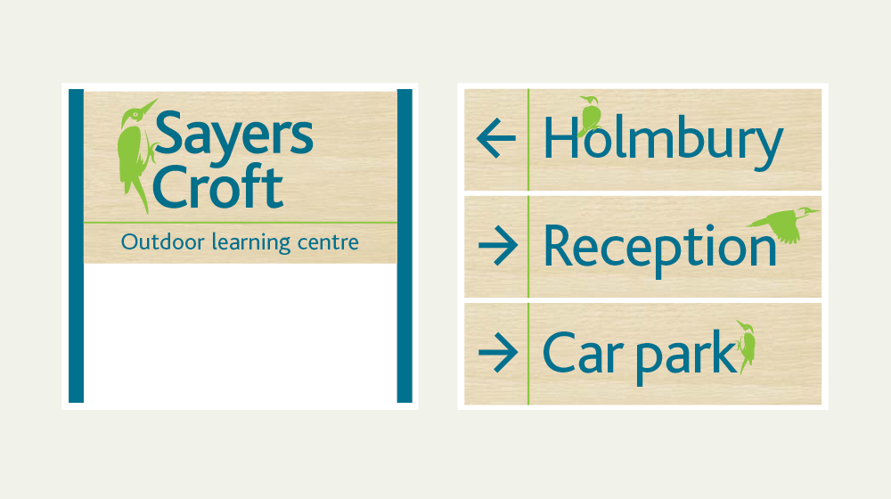 Sayers Croft wayfinding design