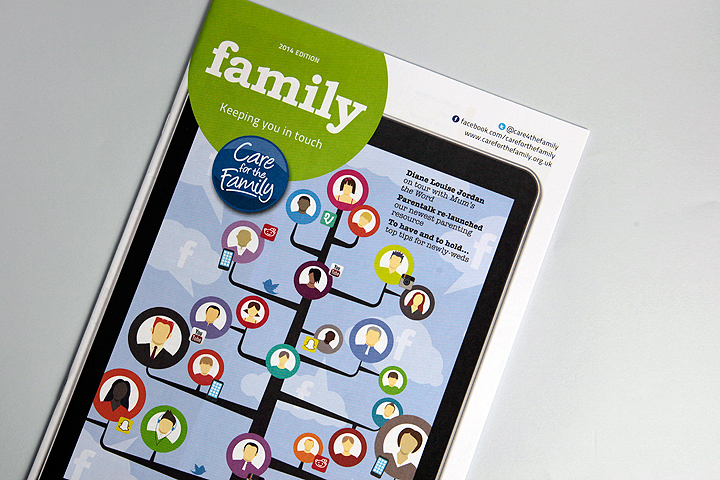 Family magazine front cover design