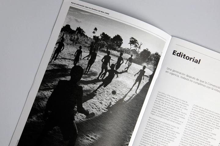 La Revista magazine page spread design