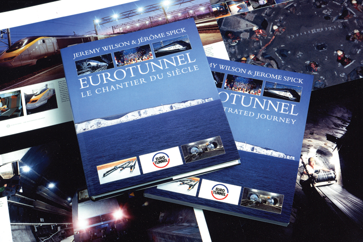 Eurotunnel book cover and page designs
