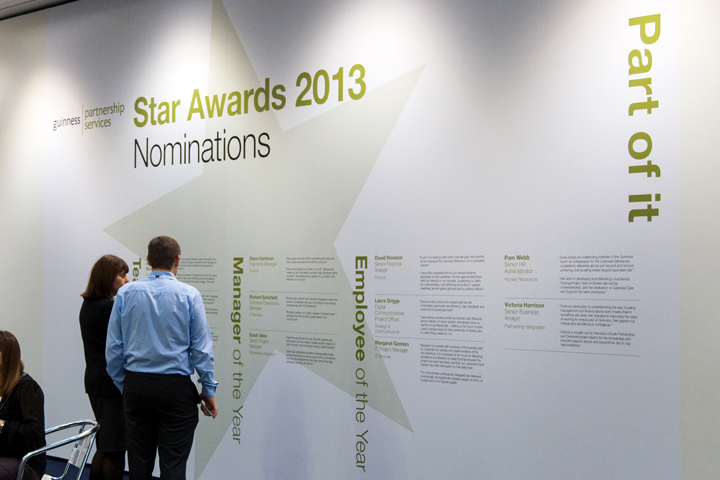 Conference Star Awards backdrop design